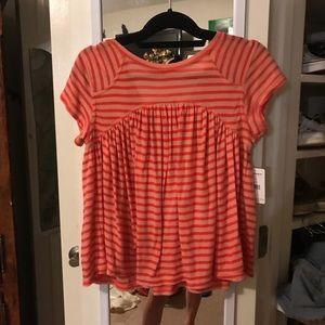 free people striped orange top